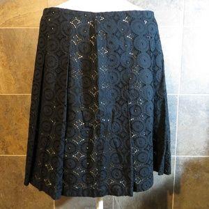 Banana Republic Eyelet / Lace Skater Skirt